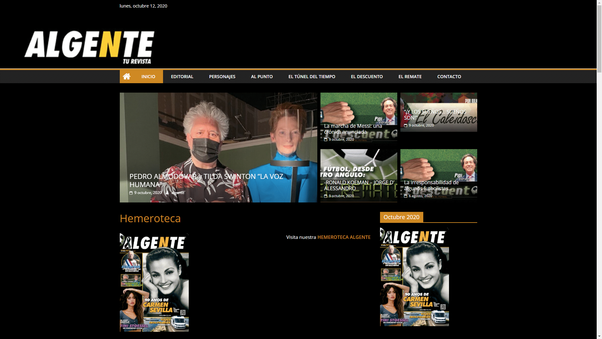 Diseño Página Web ALGENTE
