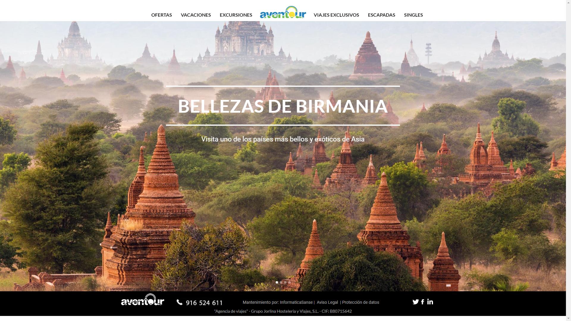 Diseño Página Web AVENTOUR
