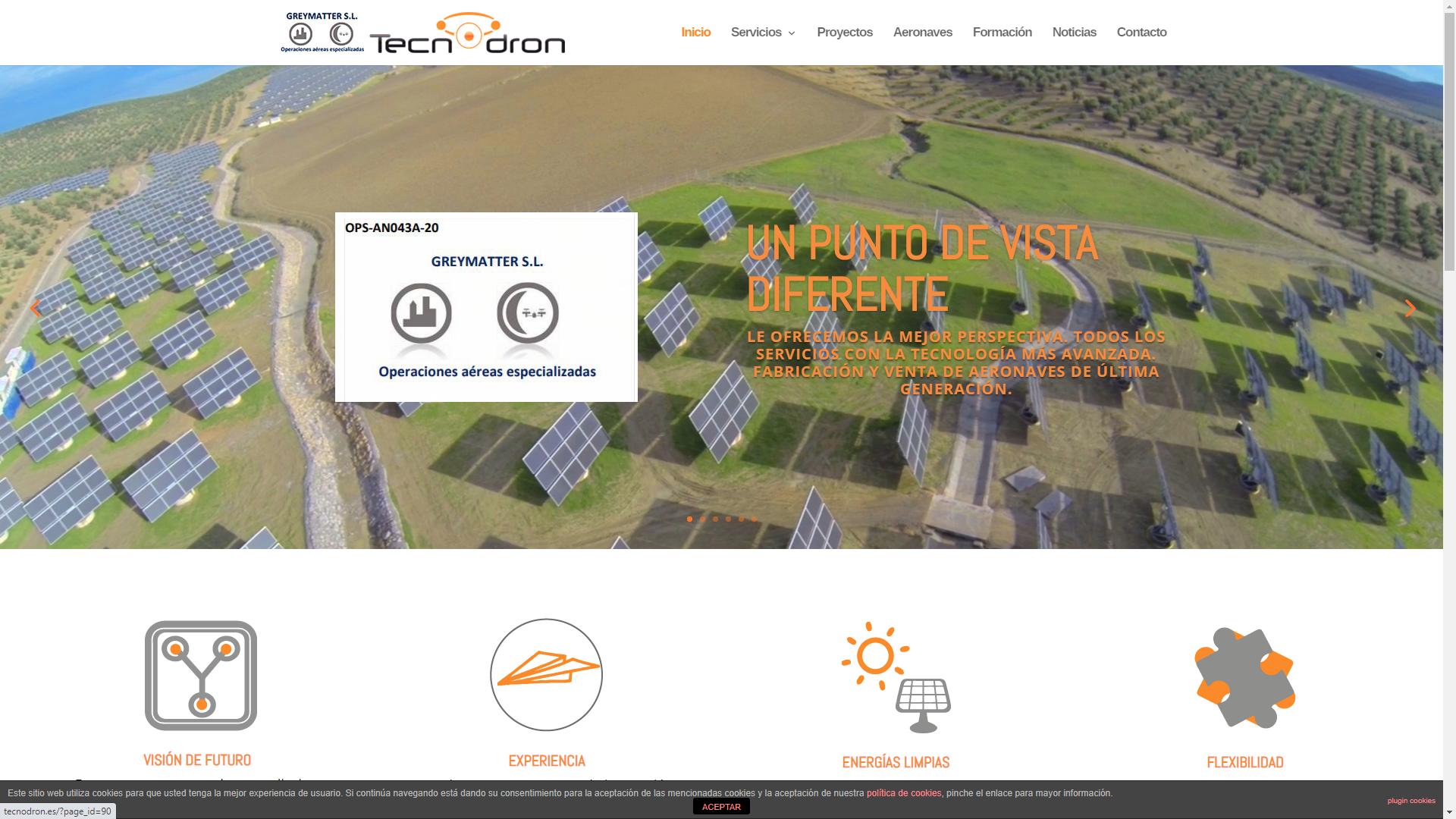 Diseño y Posicionamiento Página Web TECNODRON