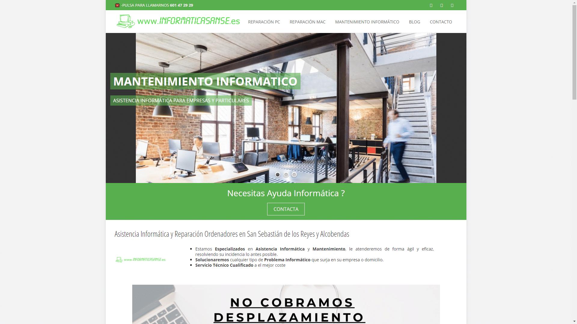 Diseño y Posicionamiento Página Web INFORMATICASANSE