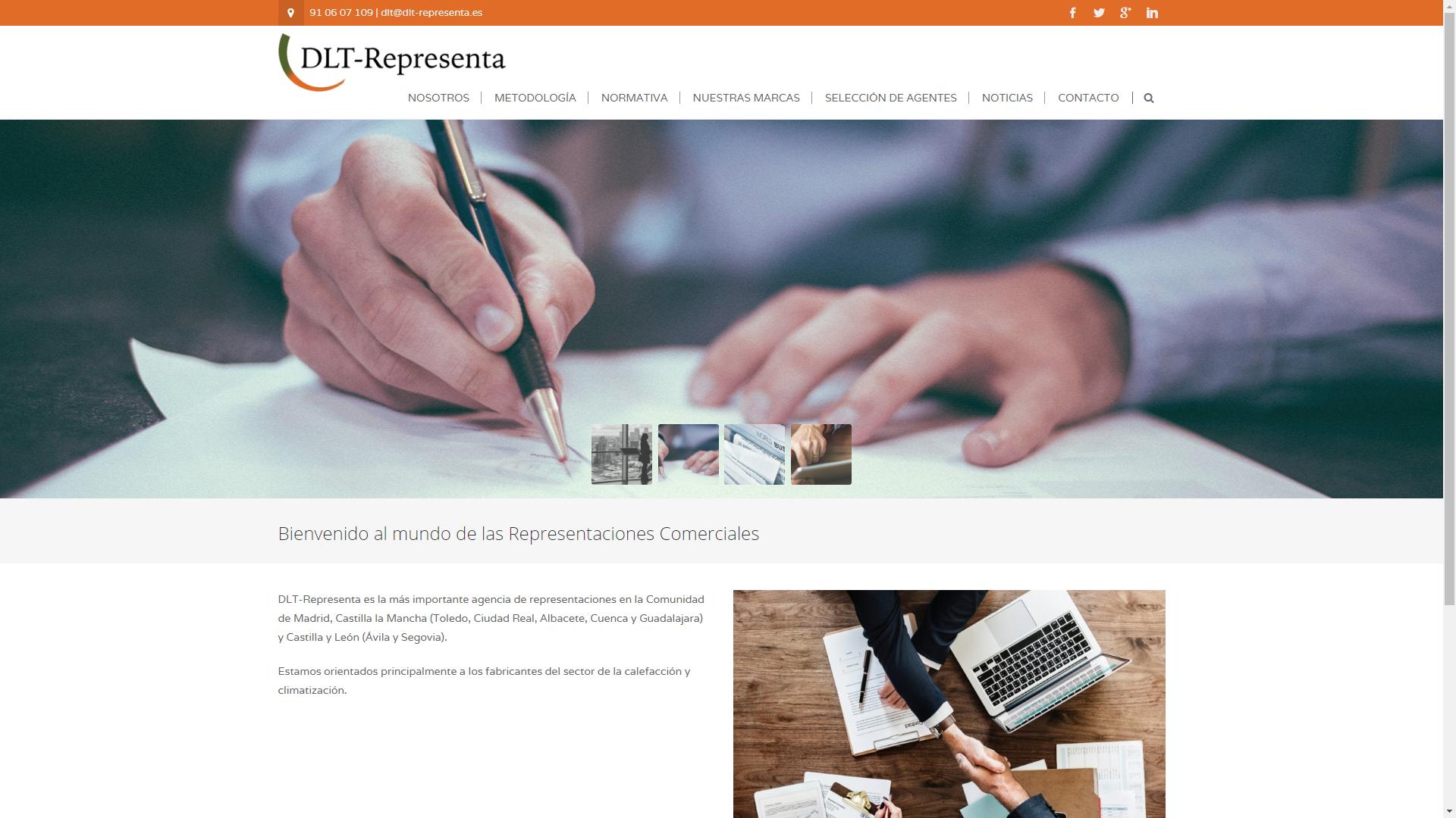 Diseño Página Web DLT-REPRESENTA