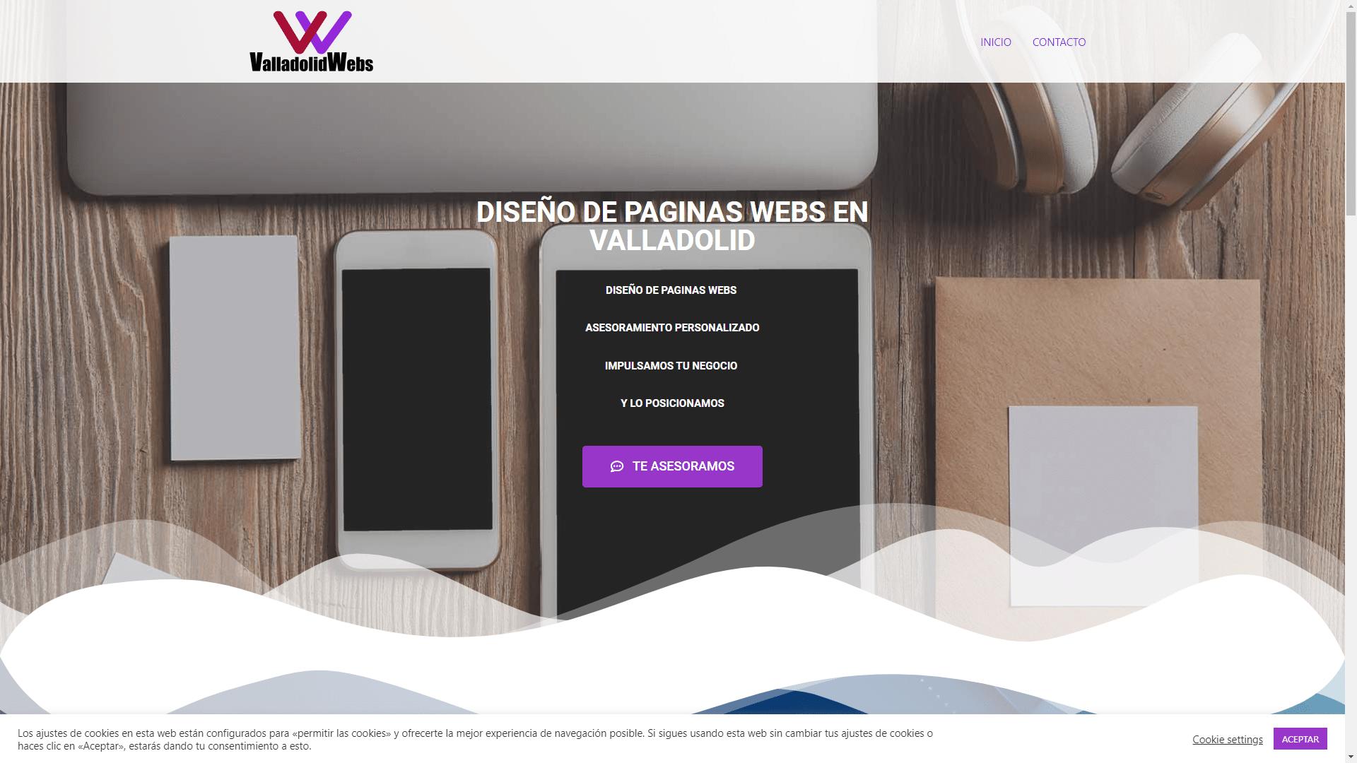 Diseño y Posicionamiento Página Web VALLADOLIDWEBS